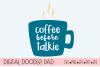 Coffee Before Talkie SVG |Silhouette and Cricut Cut Files example image 1