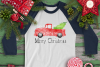 CHRISTMAS - Watercolor Merry Christmas Truck example image 1