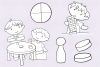 Kids Playing Board Games Digital Stamps example image 4