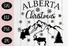 Alberta Christmas SVG, Christmas Cut File example image 1