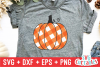 Gingham Plaid Pumpkins | Fall Cut File example image 3