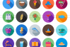50 Summer Flat Long Shadow Icons example image 2