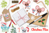Christmas Mice Clipart, Instant Download Vector Art example image 4