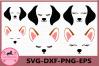 Dog Face SVG, Puppy Svg, Dog svg, Hound Dog Face, Clipart example image 1