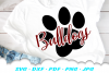 Bulldogs Paw Cheer SVG DXF Cut Files example image 1