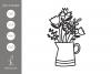 Flowers Vase Cut Files example image 1
