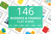 146 Business & FInance Flat Icons example image 1