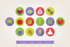 Round Vegetables Icons example image 3