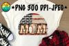 Baseball Mom - Vintage - American Flag - PNG 300 DPI example image 1