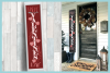 Holiday Tall Vertical Front Porch Sign Bundle SVG example image 11