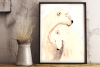 Love and Bears - Watercolor Illustration/Print example image 1