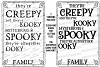 Creepy & Kooky Mysterious Spooky Halloween Family Name Sign example image 1