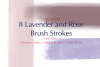8PNG Lavender and Rose Brush Strokes example image 2