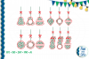 SVG Christmas Holly Ornaments, Cut File, Clip Art FWS468 example image 1