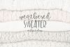 Weathered Sweater - A Font Duo example image 1