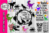 Dinosaur svg - Bundle - water bottle tracker - layered svg example image 1