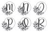 Monogram Alphabet with Floral Design. Flower Monogram example image 3