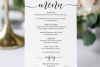 Wedding Menu Card Editable Template Printable Menu Cards example image 2