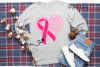 Breast cancer survivor, heart SVG / DXF / EPS / PNG file example image 2