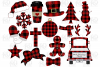 Buffalo Plaid Christmas Bundle SVG, DXF, AI, EPS, PNG, JPEG example image 2