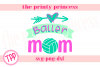 Volleyball Baller Mom svg, Volleyball svg Volleyballdesign example image 1