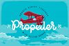 Propeller font illustration example image 1