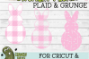 Plaid & Grunge Spring Easter Bunny 1 SVG Cut File example image 4