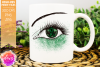 Green Awareness Ribbon Eye - Printable Design example image 1
