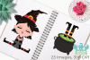 Wicked Witches 2 Clipart, Instant Download Vector Art example image 3
