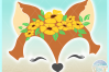 Fox Face With Flowers Svg Dxf Eps Png Svg Files example image 2