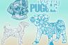 Puggle Mandala Zentangle Bundle SVG Eps Png PDF example image 2