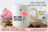 Flamingo SVG, Funny Cut File, Cricut & Silhouette Cut Files example image 2