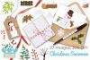 Christmas Snowmen Clipart, Instant Download Vector Art example image 4