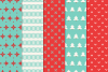 14 Christmas Pixel Seamless Patterns example image 3