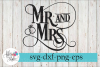 Mr and & Mrs Ring Wedding SVG Cutting Files example image 1
