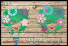 Spring Beauty HTV cut file and Print File SVG, DFX, EPS, example image 1