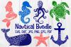 Nautical Mandala Bundle, Whale, Mermaid, Turtle, Starfish example image 1
