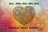Heart SVG, Zentangle SVG, Mandala svg, Valentines day svg example image 1