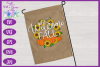 Welcome Fall SVG | Autumn SVG | Sunflowers SVG | Pumpkin SVG example image 2