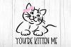 You're Kitten Me Cat With Bow svg, funny girl's cat shirt example image 2