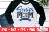 Baseball Softball Senior Mom   svg Cut File example image 1