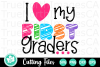 I Love My First Graders - A School SVG Cut File example image 3