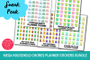 Mega Household Chores Planner Stickers Bundle Pack example image 2