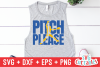 Pitch Please | Softball | SVG Cut File example image 3