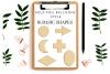 Basic Shape Silhouette, Gold Ballon Foil Shapes Designs, example image 1