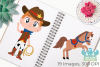 Wild West Cowboys Clipart, Instant Download Vector Art example image 3