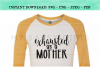 Exhausted As A Mother Funny Mom SVG example image 3