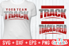 Track and Field Template 002 | SVG Cut File example image 1