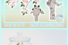 Cute Giraffe Faces with Flowering Tree Limb Svg Dxf Eps Png example image 4