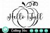 Hello Fall Pumpkin - A Fall SVG Cut File example image 4